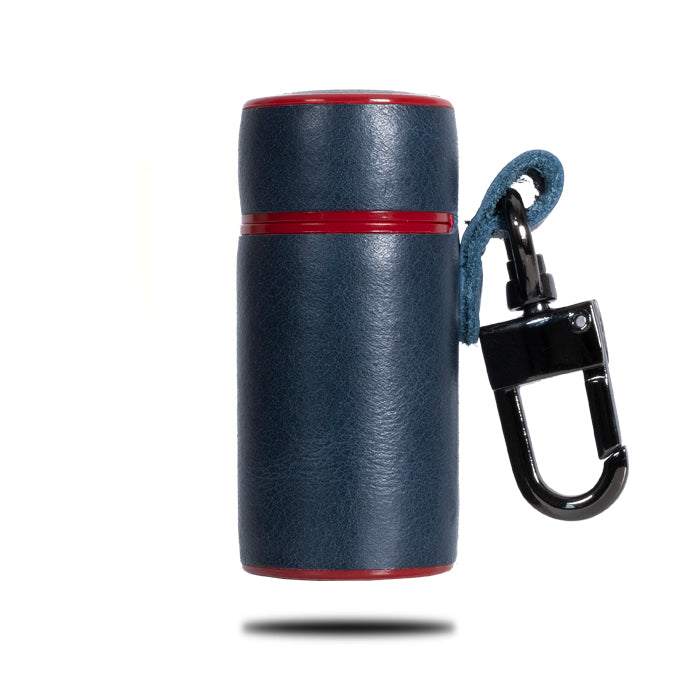 Buy personalized Peacock Blue & Crimson Red AirPods Leather Case online-Kulör Cases