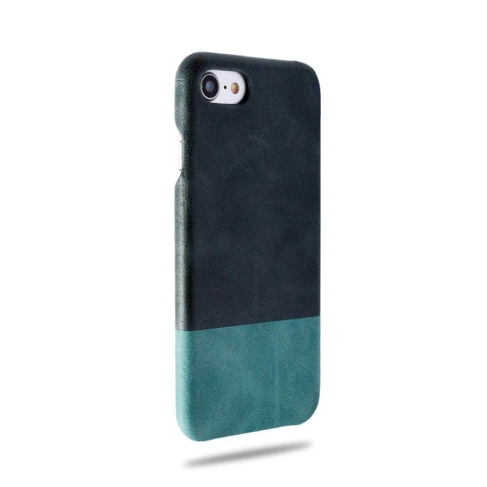 Peacock Blue & Ocean Blue iPhone SE 2 (2020) / iPhone 8 / iPhone 7 Lærveske-iPhone 7 Snap-on-deksel i lær-Kulör Cases