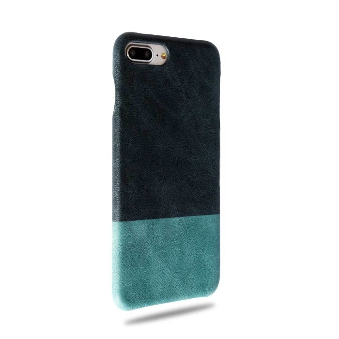 Buy personalized Peacock Blue & Ocean Blue iPhone 8 Plus / iPhone 7 Plus Leather Case online-Kulör Cases