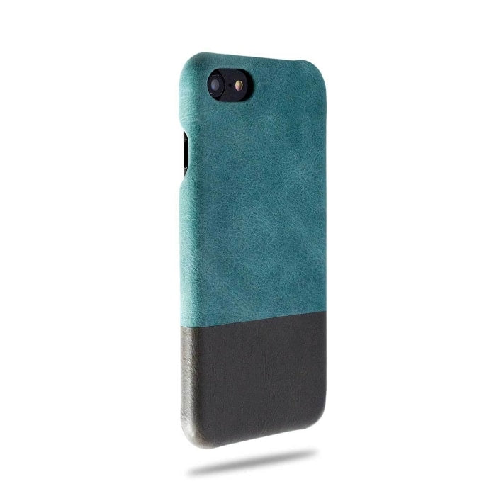 Ocean Blue & Pebble Grey iPhone SE 2 (2020) / iPhone 8 / iPhone 7 Lærveske-iPhone 8 / iPhone 7 Snap-on-deksel i lær-Kulör Cases