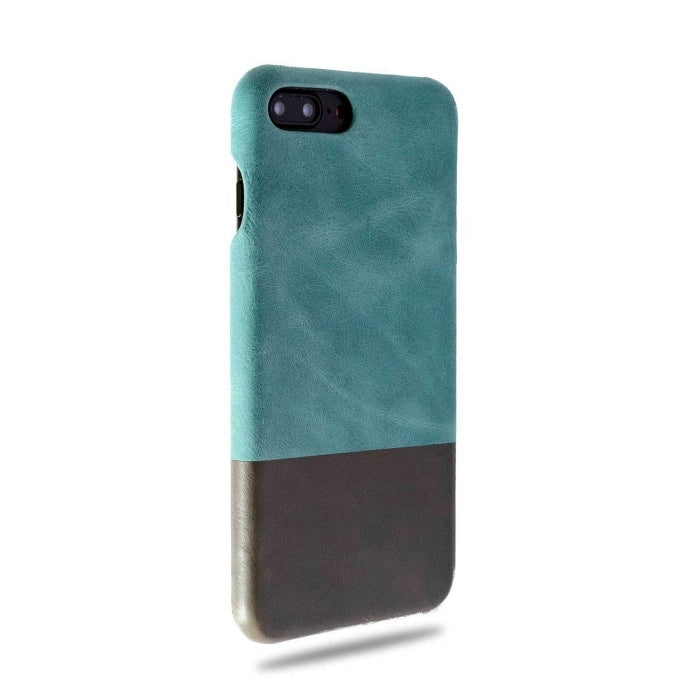 Kjøp tilpasset Ocean Blue & Pebble Grey iPhone 8 Plus / iPhone 7 Plus Lærveske online-Kulör Cases