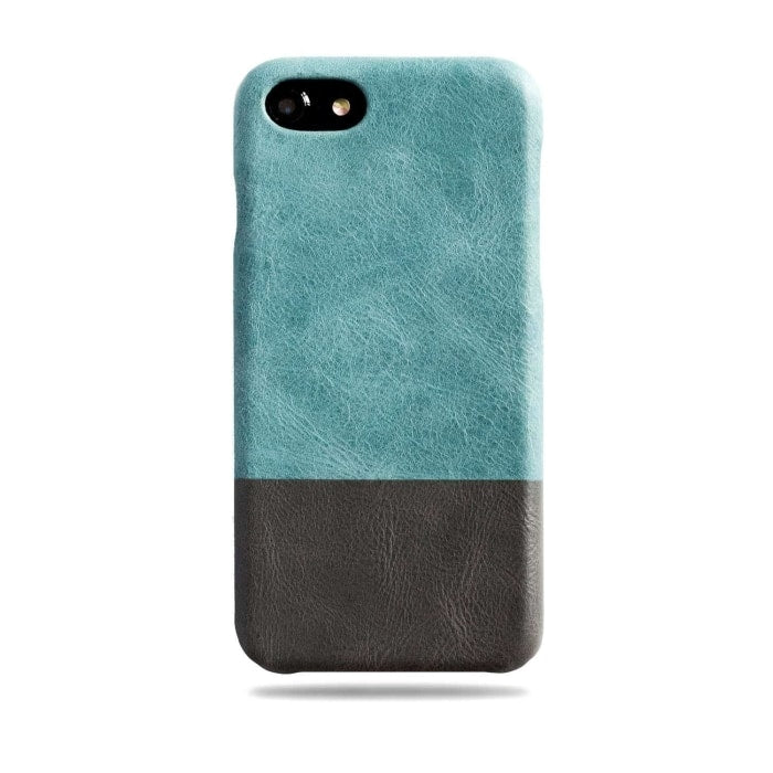 info for b8d0b dcb72 Ocean Blue & Pebble Grey iPhone 8 / iPhone 7 Leather Case