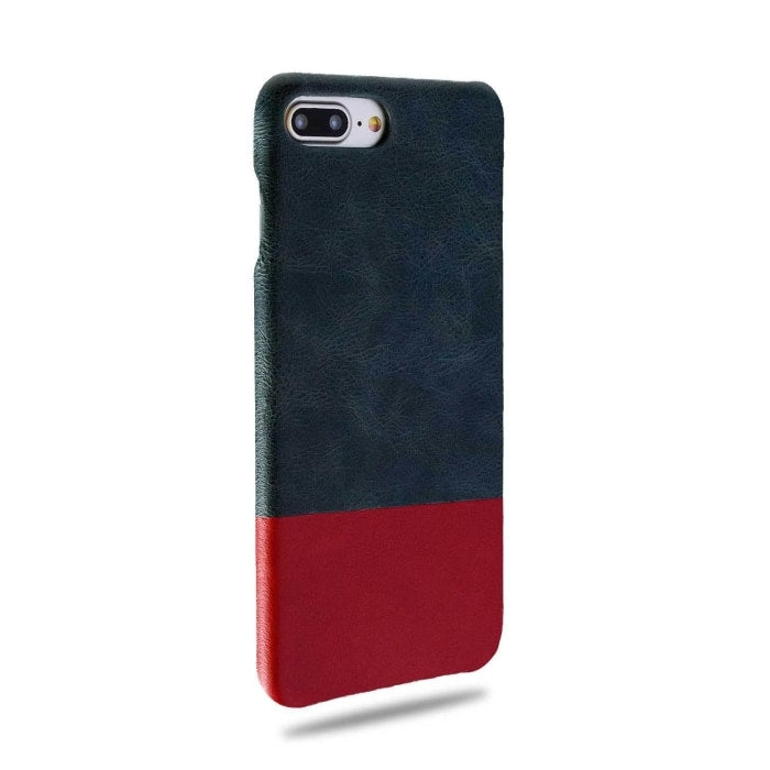 Peacock Blue & Crimson Red Iphone 8 Plus / Iphone 7 Plus Leather Case - Iphone 7 Plus Leather Snap-On Case