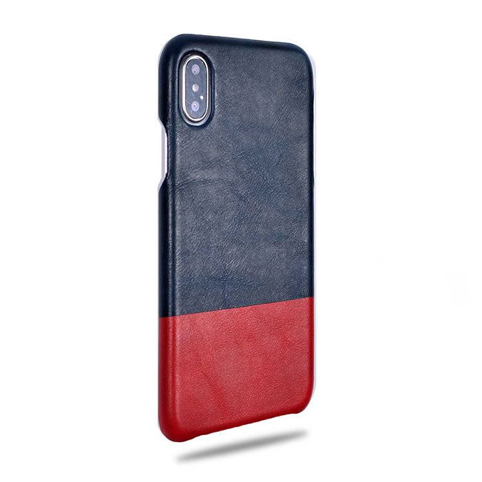 Peacock Blue & Crimson Red iPhone Xs Max Leather Case-Kulör Cases