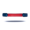 Peacock Blue & Crimson Red Leather Armband
