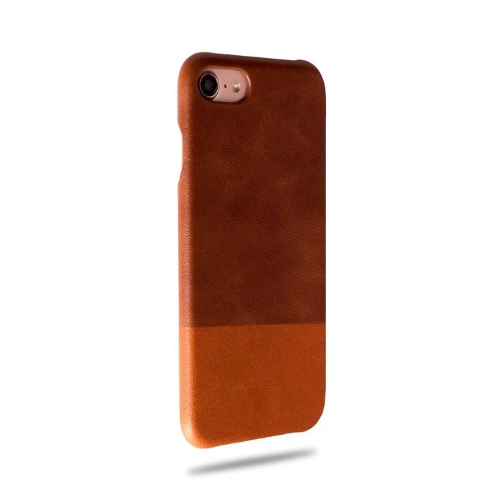 Walnut Brown & Cider Orange iPhone SE 2 (2020) / iPhone 8 / iPhone 7 Leather Case-iPhone 7 Leather Snap-On Case-Kulör Cases