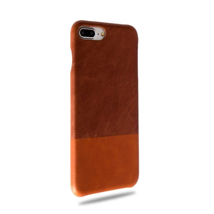 Buy personalized Walnut Brown & Cider Orange iPhone 8 Plus / iPhone 7 Plus Leather Case online-Kulör Cases