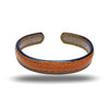 Walnut Brown & Sage Green Leather Armband