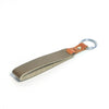 Sage Green & Walnut Brown Leather Keychain-Kulör Cases