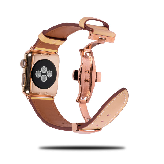 Beige Leather Apple Watch Distribuerende band og spenne-Apple Watch Band-Kulör Cases
