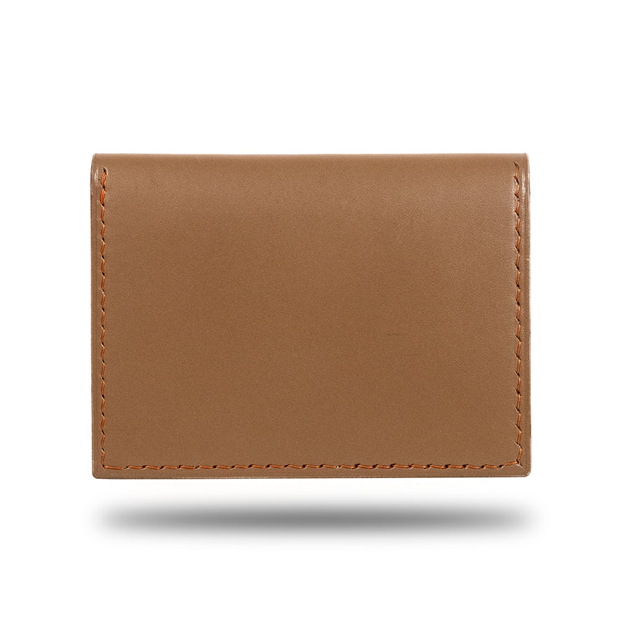 Sage Green & Walnut Brown Leather Bidfold Cardholder-Kulör Cases
