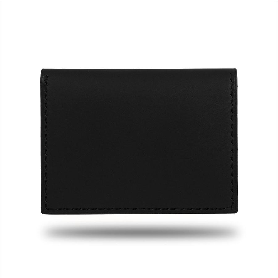Black Leather Bidfold Cardholder