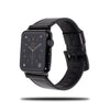All Black Leather Apple Watch Band & Stropp-Apple Watch Band-Kulör Cases