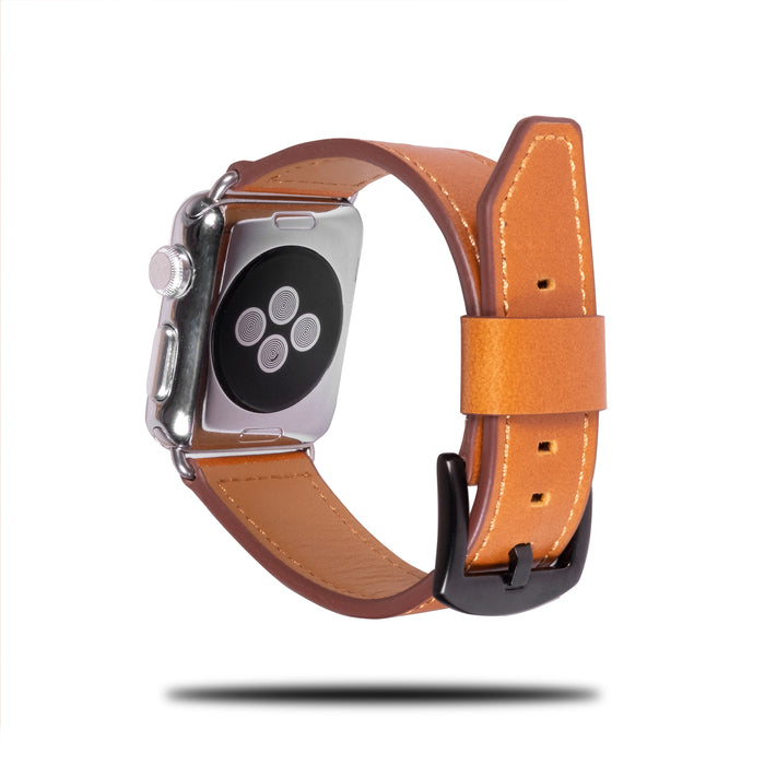 Alle Brown Leather Apple Watch Band & Stropp-Apple Watch Band-Kulör Cases