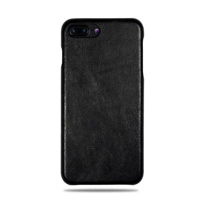 sports shoes 6b6e5 3cf7a All Black iPhone 8 Plus / iPhone 7 Plus Leather Case