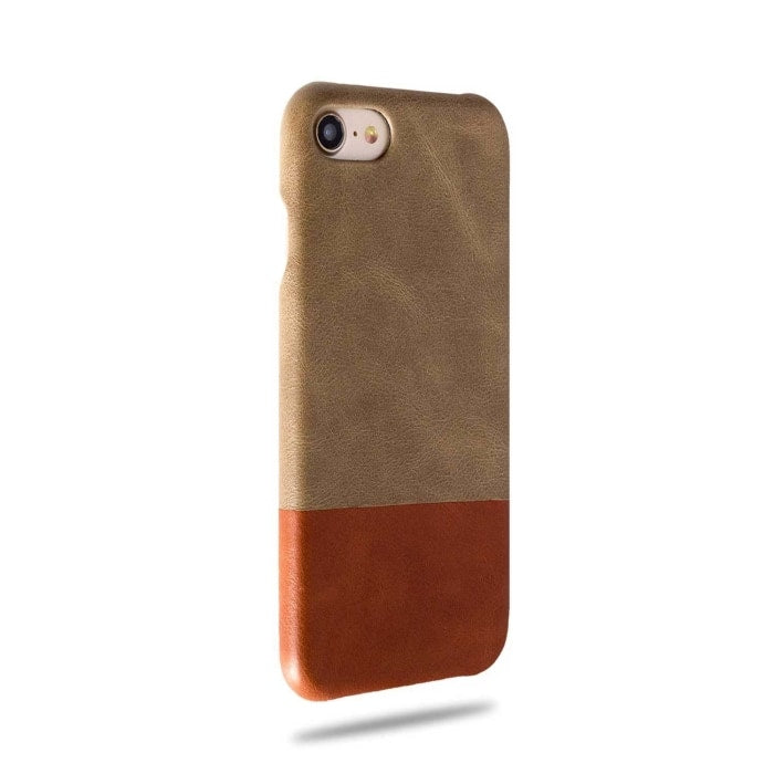 Buy personalized Sage Green & Walnut Brown iPhone 8 / iPhone 7 Leather Case online-Kulör Cases