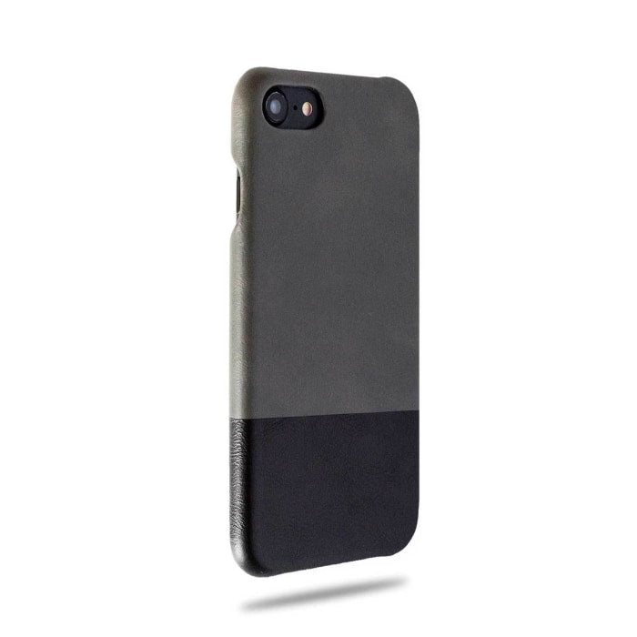 Fossil Gray & Crow Black iPhone SE 2 (2020) / iPhone 8 / iPhone 7 Leather Case-iPhone 8 / iPhone 7 Leather Snap-On Case-Kulör Cases