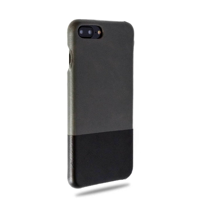 Fossil Gray & Crow Black iPhone 8 Plus / iPhone 7 Plus Leather Case-Kulör Cases