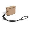 Khaki Brown & Black AirPods Pro Leather Case