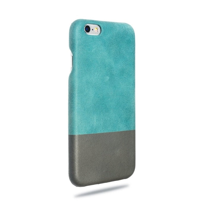 Buy personalized Ocean Blue & Pebble Grey iPhone 6 / iPhone 6s Leather Case (DISCONTINUED) online-Kulör Cases