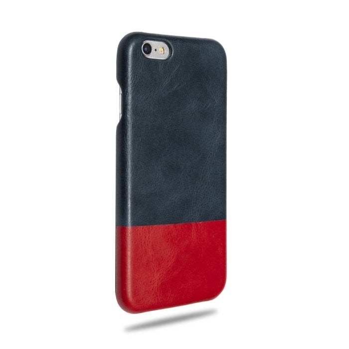 Kjøp personlig Peacock Blue & Crimson Red iPhone 6 / iPhone 6s Lærveske online-Kulör Cases