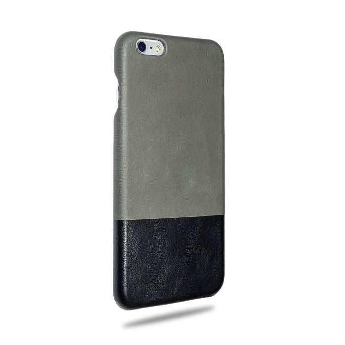 Kjøp personlig Fossil Grey & Crow Black iPhone 6 Plus / iPhone 6s Plus Lærveske online-Kulör Cases