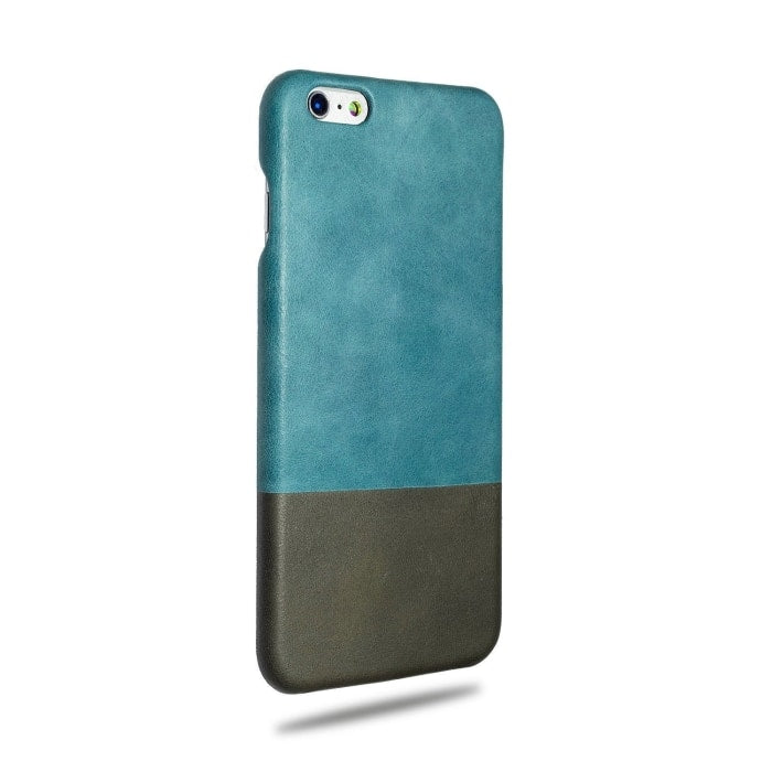 Buy personalized Ocean Blue & Pebble Grey iPhone 6 Plus / iPhone 6s Plus Leather Case online-Kulör Cases