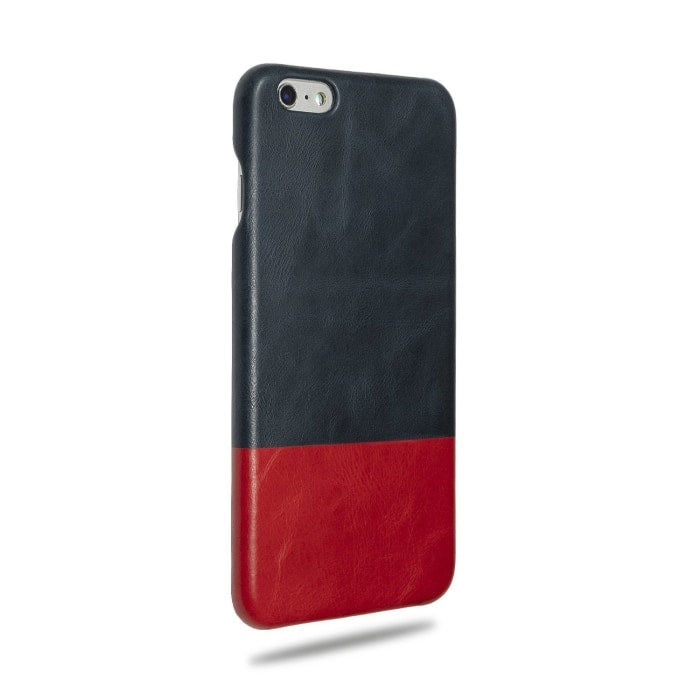 Kjøp personlig Peacock Blue & Crimson Red iPhone 6 Plus / iPhone 6s Plus Lærveske online-Kulör Cases