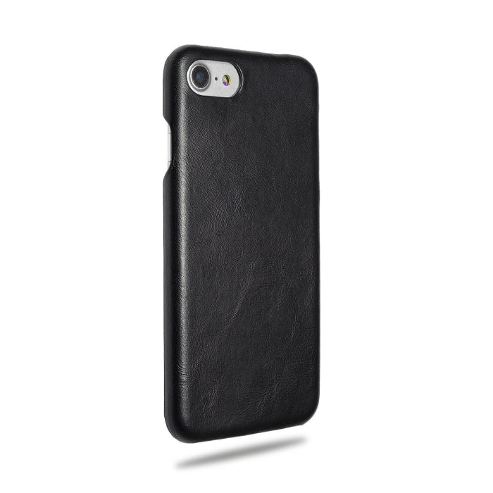 All Black Iphone 8 / Iphone 7 Leather Case - Iphone 8 / Iphone 7 Leather Snap-On Case
