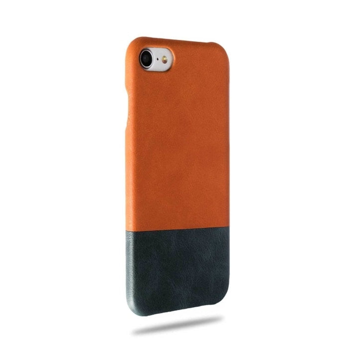 Cider Orange & Peacock Blue iPhone SE 2/ iPhone 8 / iPhone 7 Leather Case (Discontinued)-iPhone 8 / iPhone 7 Leather Snap-On Case-Kulör Cases