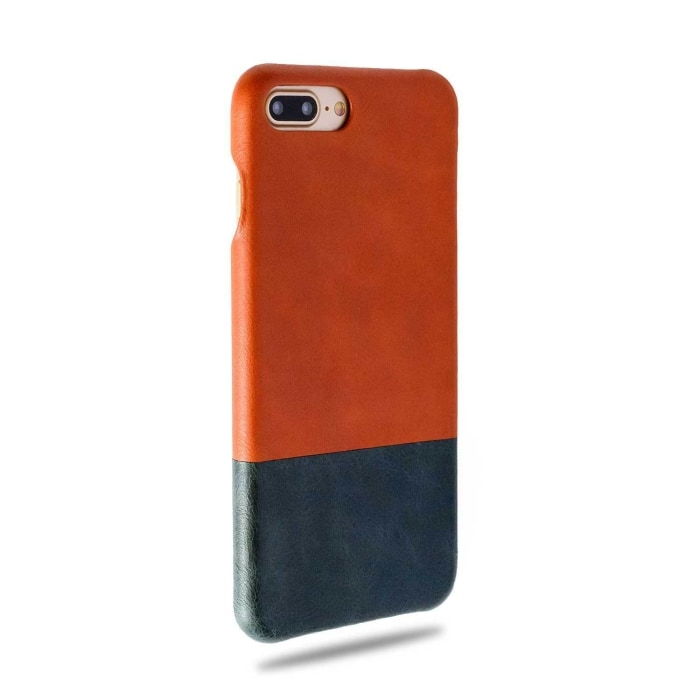 Cider Orange & Peacock Blue iPhone 8 Plus / iPhone 7 Plus Leather Case-Kulör Cases