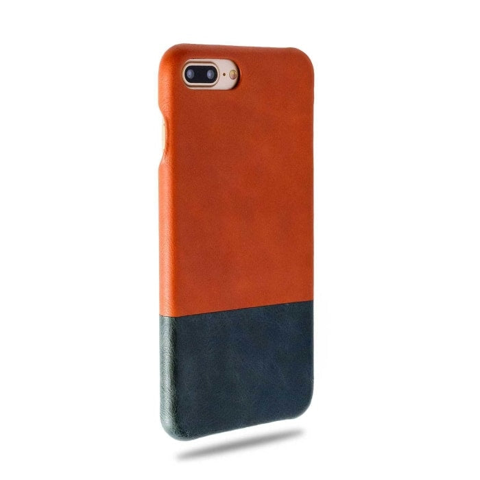 Buy personalized Cider Orange & Peacock Blue iPhone 8 Plus / iPhone 7 Plus Leather Case online-Kulör Cases