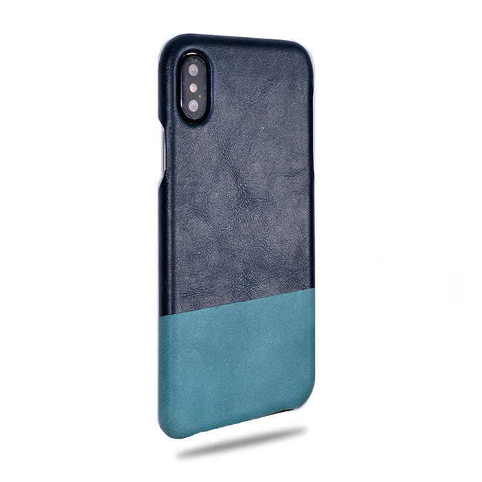 Peacock Blue & Ocean Blue iPhone Xs Max Leather Case-Kulör Cases