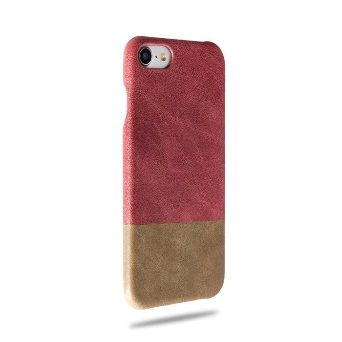 Rosewood Pink & Sage Green iPhone SE 2 (2020) / iPhone 8 / iPhone 7 Leather Case-iPhone 7 Leather Snap-On Case-Kulör Cases