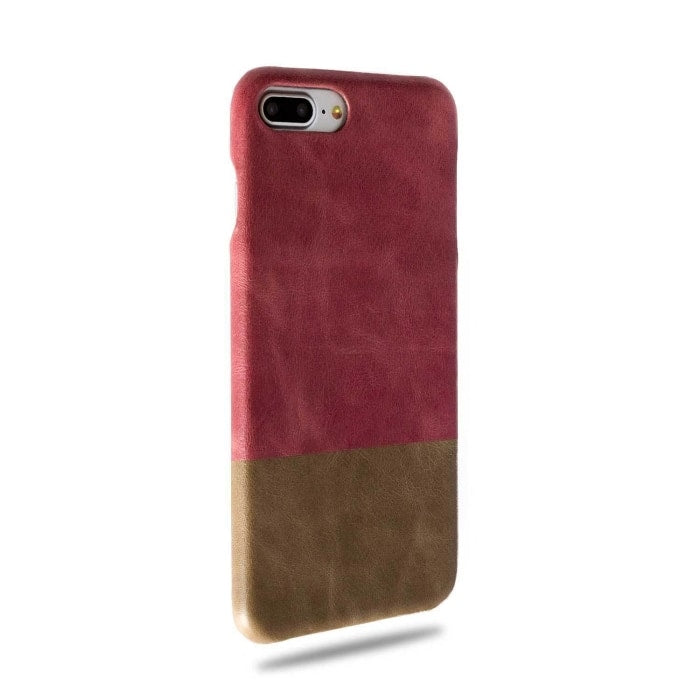 Rosewood Pink & Sage Green iPhone 8 Plus / iPhone 7 Plus Leather Case-Kulör Cases
