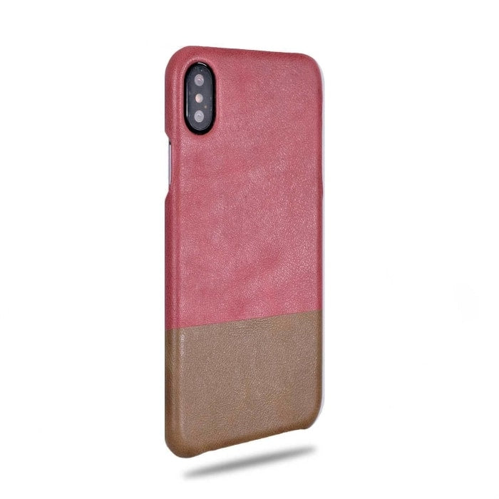 Buy personalized Rosewood Pink & Sage Green iPhone Xs / iPhone X Leather Case online-Kulör Cases