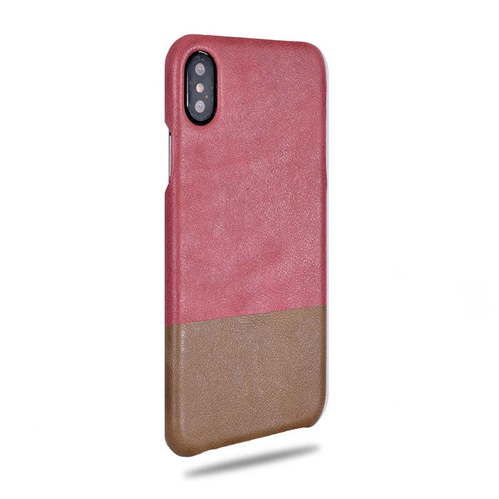 Rosewood Pink & Sage Green iPhone Xs Max Leather Case-Kulör Cases