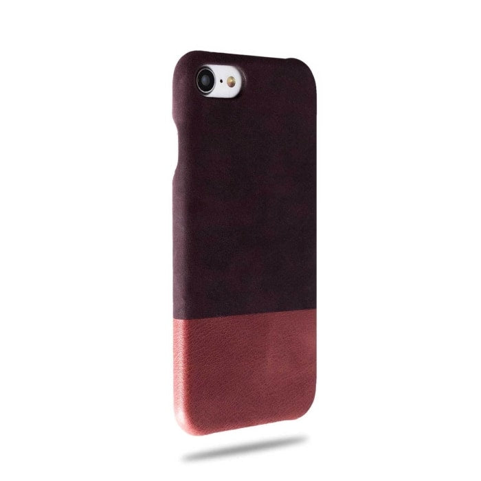 Wine Purple & Rosewood Pink iPhone SE 2 (2020) / iPhone 8 / iPhone 7 Leather Case-iPhone 7 Leather Snap-On Case-Kulör Cases