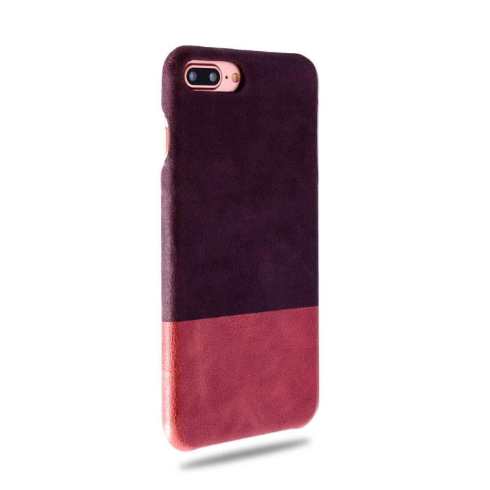 Kjøp tilpasset Vin Lilla & Rosewood Pink iPhone 8 Plus / iPhone 7 Plus Lærveske online-Kulör Cases