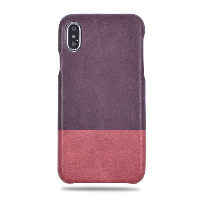 leather iphone xs case pink