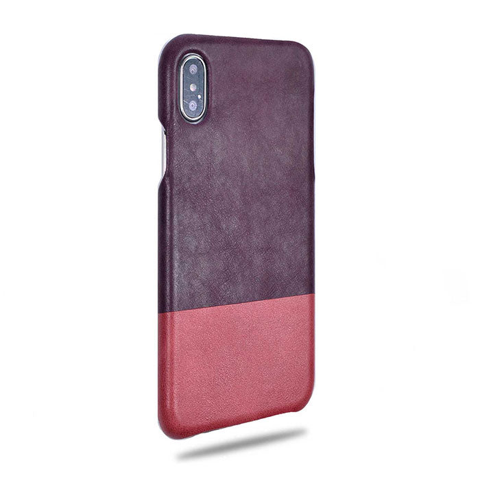 Buy personalized Wine Purple & Rosewood Pink iPhone Xs Max Leather Case online-Kulör Cases