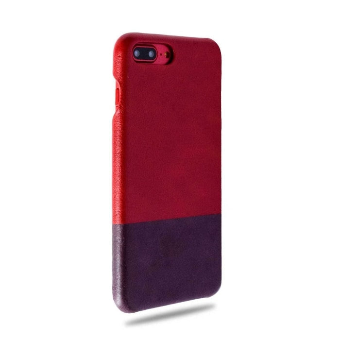 Buy personalized Crimson Red & Wine Purple iPhone 8 Plus / iPhone 7 Plus Leather Case online-Kulör Cases