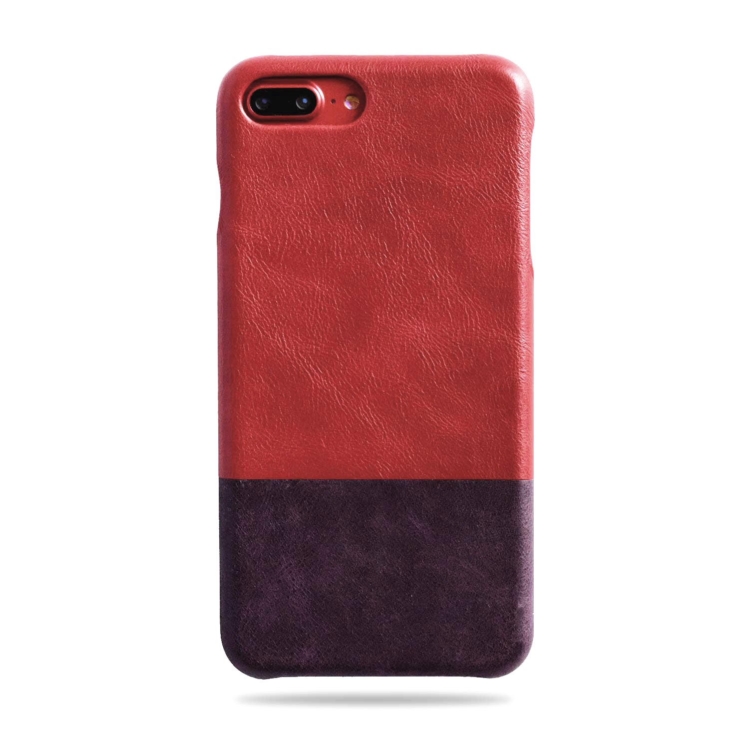 separation shoes 99d4a a10c6 Crimson Red & Wine Purple iPhone 8 Plus / iPhone 7 Plus Leather Case