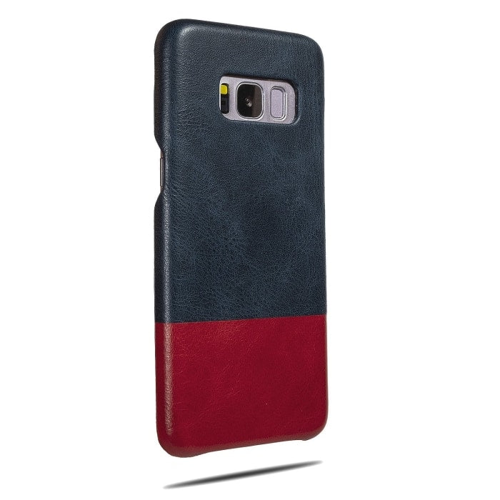 Peacock Blue & Crimson Red Samsung Galaxy S8 Leather Case-Kulör Cases