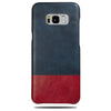 Buy personalized Peacock Blue & Crimson Red Samsung Galaxy S8+ Plus Leather Case online-Kulör Cases