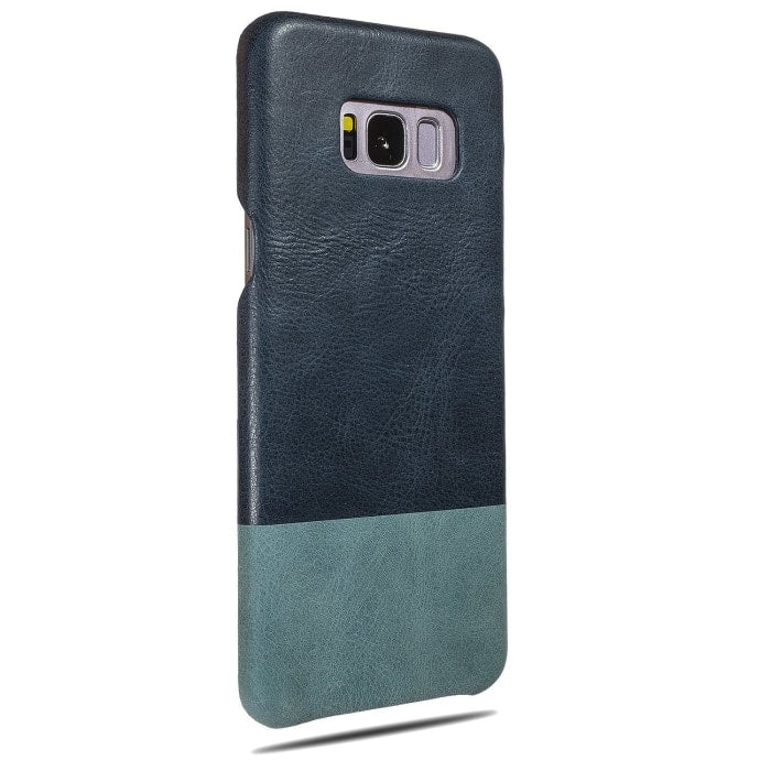 Buy personalized Peacock Blue & Ocean Blue Samsung Galaxy S8+ Plus Leather Case online-Kulör Cases