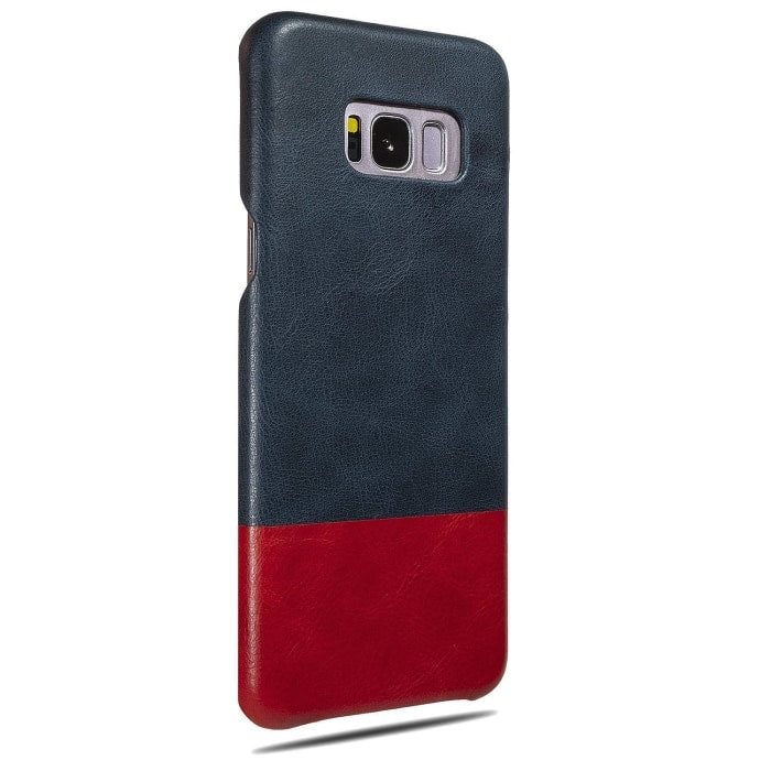 Peacock Blue & Crimson Red Samsung Galaxy S8+ Plus Leather Case-Kulör Cases
