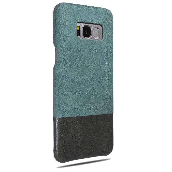 Buy personalized Ocean Blue & Pebble Gray Samsung Galaxy S8+ Plus Leather Case online-Kulör Cases