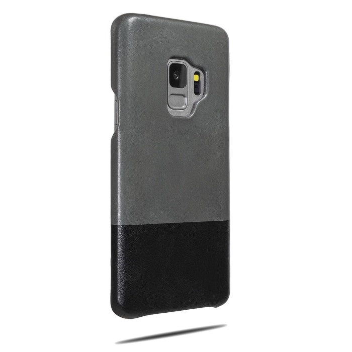 Fossil Gray & Crow Black Samsung Galaxy S9 Leather Case-Kulör Cases