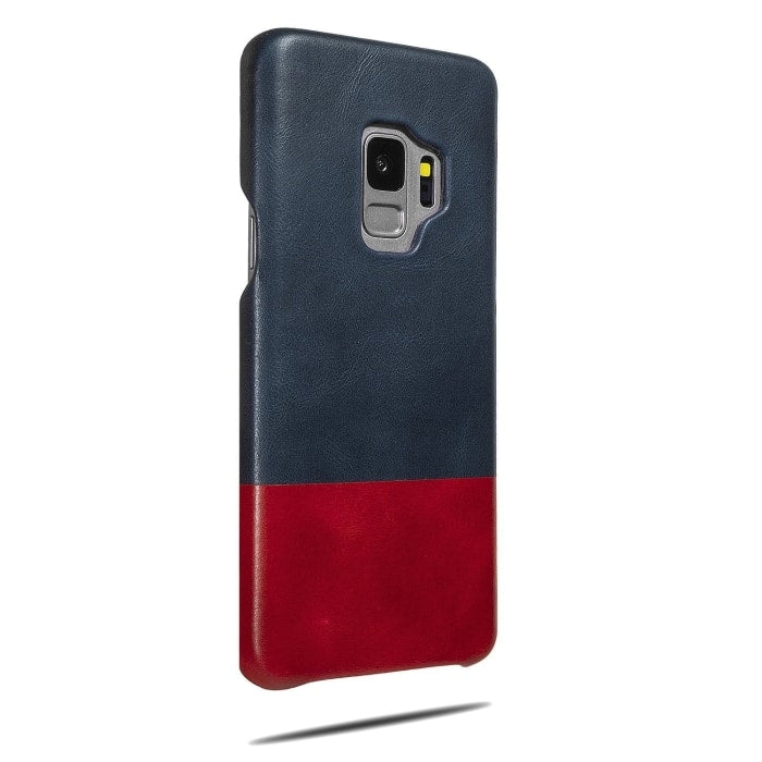 Peacock Blue & Crimson Red Samsung Galaxy S9 Leather Case-Kulör Cases